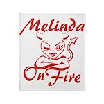 Melinda On Fire Throw Blanket