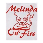 Melinda On Fire Throw Blanket