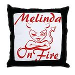 Melinda On Fire Throw Pillow