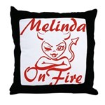 Melinda On Fire Throw Pillow
