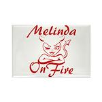 Melinda On Fire Rectangle Magnet