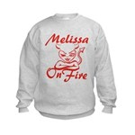 Melissa On Fire Kids Sweatshirt