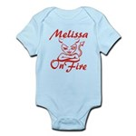 Melissa On Fire Infant Bodysuit