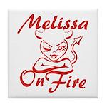 Melissa On Fire Tile Coaster