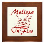 Melissa On Fire Framed Tile