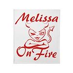 Melissa On Fire Throw Blanket