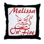 Melissa On Fire Throw Pillow