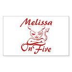 Melissa On Fire Sticker (Rectangle)