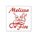 Melissa On Fire Square Sticker 3