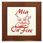 Mia On Fire Framed Tile