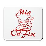 Mia On Fire Mousepad