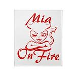 Mia On Fire Throw Blanket