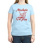 Michele On Fire Women's Light T-Shirt