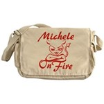 Michele On Fire Messenger Bag