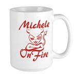 Michele On Fire Large Mug