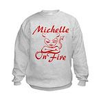 Michelle On Fire Kids Sweatshirt