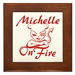 Michelle On Fire Framed Tile