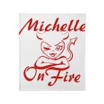 Michelle On Fire Throw Blanket