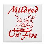 Mildred On Fire Tile Coaster