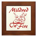 Mildred On Fire Framed Tile