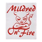 Mildred On Fire Throw Blanket
