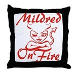 Mildred On Fire Throw Pillow