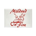 Mildred On Fire Rectangle Magnet