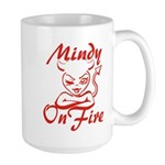 Mindy On Fire Large Mug