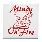 Mindy On Fire Tile Coaster