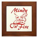 Mindy On Fire Framed Tile