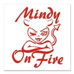 Mindy On Fire Square Car Magnet 3