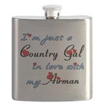 Country Gal Air Force Love Flask