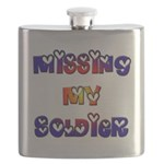 Missing My Soldier Flask