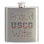Proud USCG Wife Flask