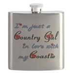 Country Gal Coastie Love Flask
