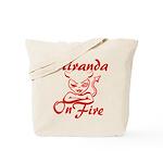 Miranda On Fire Tote Bag