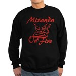 Miranda On Fire Sweatshirt (dark)