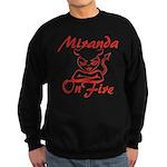 Miranda On Fire Sweatshirt (dark)