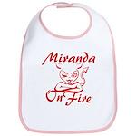 Miranda On Fire Bib