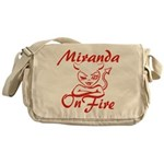 Miranda On Fire Messenger Bag