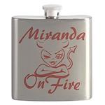 Miranda On Fire Flask