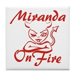 Miranda On Fire Tile Coaster