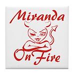 Miranda On Fire Tile Coaster