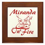 Miranda On Fire Framed Tile
