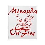 Miranda On Fire Throw Blanket