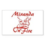 Miranda On Fire Sticker (Rectangle)