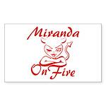Miranda On Fire Sticker (Rectangle)