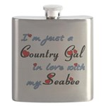 Country Gal Seabee Love Flask