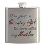 Country Gal Sailor Love Flask