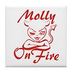 Molly On Fire Tile Coaster